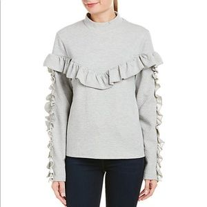 Lumie Grey Ruffle Sweatshirt